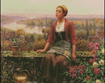 MARIA On THE TERRACE cross stitch pattern No.695