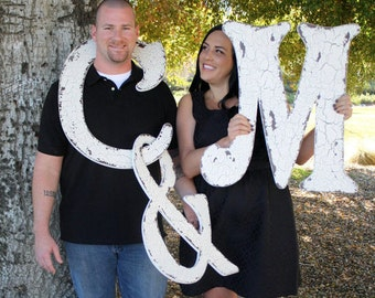 WEDDING PACKAGE of 3 LETTERS, 24 inch Wood Letters, Wood Initials, Any Letter A to Z
