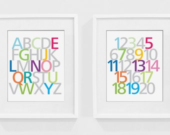 ABCs and 123s - Set of Wall Art
