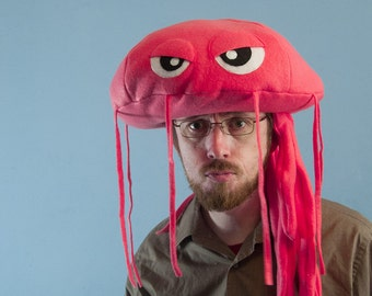 Fleece Jellyfish Hat - Hot Pink