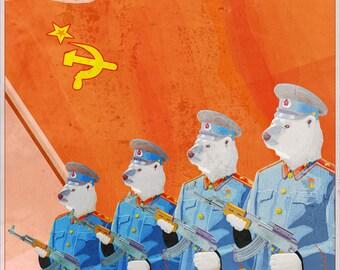 Fine Art Print - Soviet Bears - 8x10