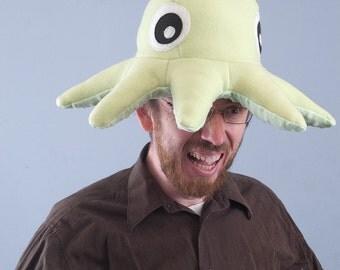Fleece Octopod Hat/Pillow - Light Green