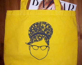 FutureLint beehive hairdo and beard of bees tote bag - yellow