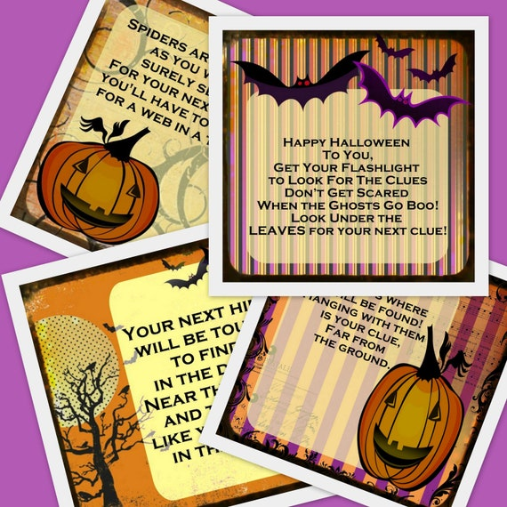PRINTABLE Halloween Scavenger Hunt 11 riddles and