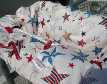 Boutique Shopping Cart Cover STARS and STRIPES  Shopping Cart Cover