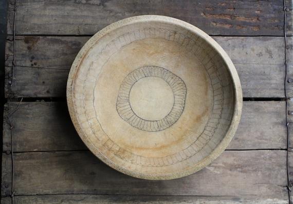 ON HOLD vintage wooden dough bowl