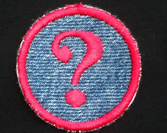 Question Mark Iron-on Patch / Merit Badge