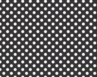 Riley Blake Designs, Small Dots in Black (C350-110)