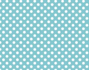 Riley Blake Designs, Small Dots in Aqua (C350 20)