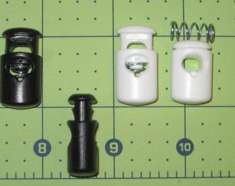 "oval ellipse cordlocks cord locks   100 pieces 1"" black or white"