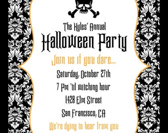 Wicked Bling Halloween Party Invitation