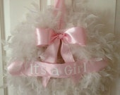 feather wreath- it's a Girl