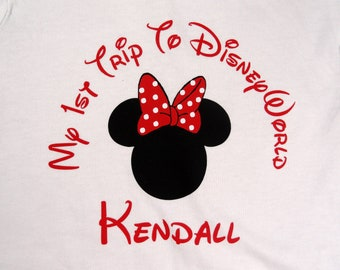 Custom My 1st Trip to Disneyworld T Shirt