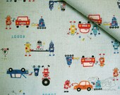 Robot Engineer -Japanese cotton linen blend fabric(0.5 yard)