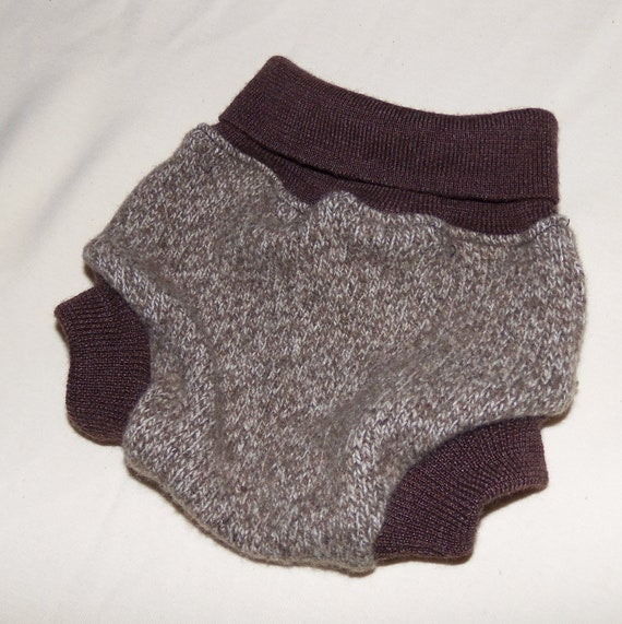 Wool Diaper Cover Eco Friendly Browns size XSmall