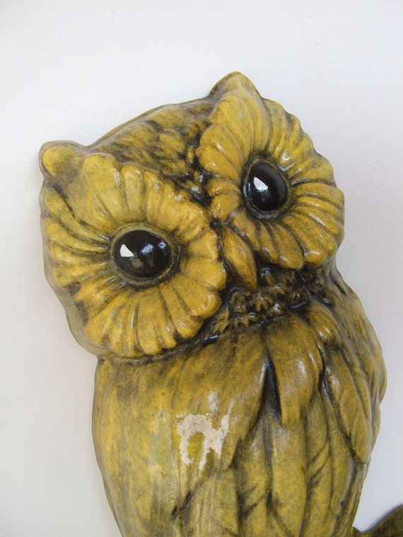 Vintage Chalk Ware OWL