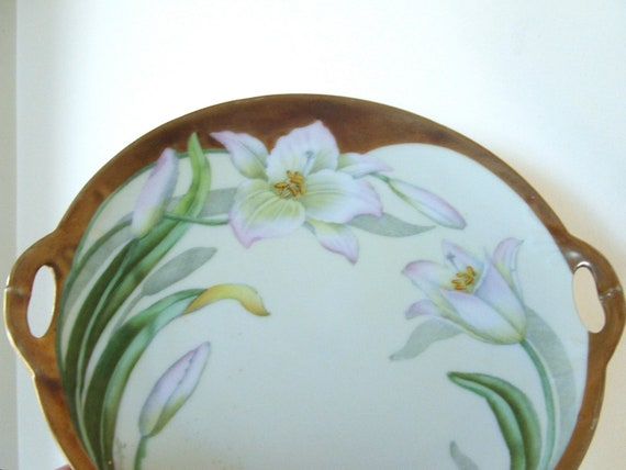 antique hand painted bavarian fine china collectors plate