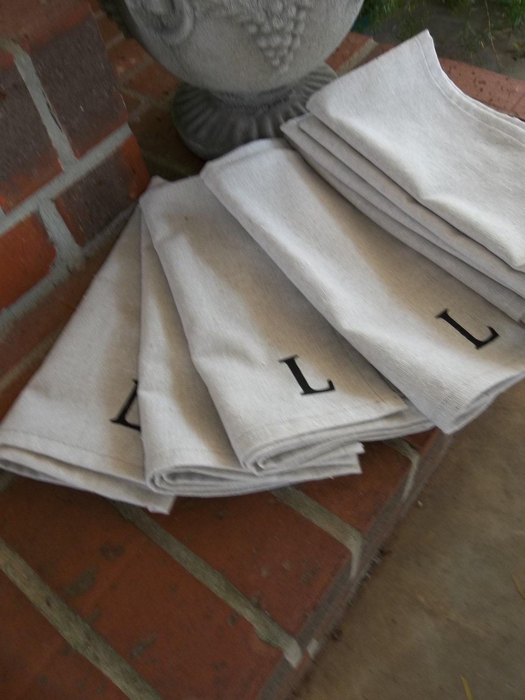 monogrammed napkins dinner handmade napkins organic fabric