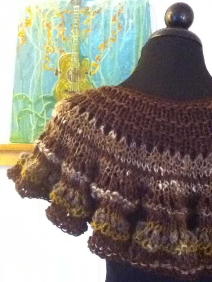 Knitting With Handspun Yarns Patterns : The diva capelet pdf knitting pattern for handspun yarn