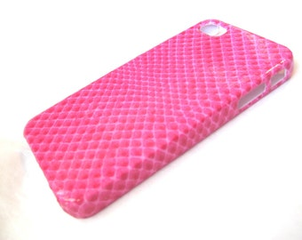 Pink Snake Skin iPhone 3, 4/4S, 5/5S/SE, 5C, 6 or iPod Touch Case