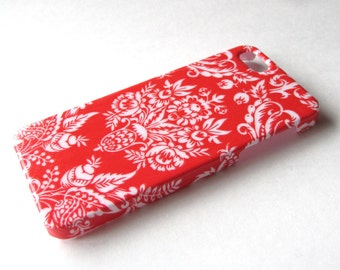 SALE!! Red Damask iPhone 4/4S Case - Back Cover