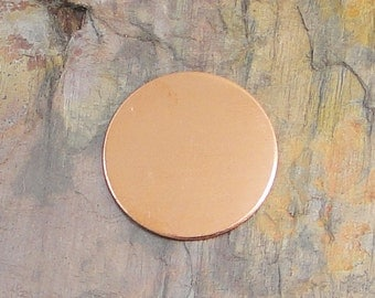 """10 Deburred 18G Copper 1 3/8"""" inch Stamping Blanks Discs"""