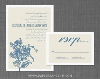 Hibiscus Wedding Invitation Set