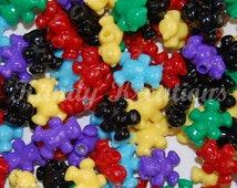 SALE 100 Teddy Bear Pony Beads for Kandi Raver Kandy Dummy Clips Novelty Kids Crafts Neckalces Bracelets bird toy parts bulk wholesale