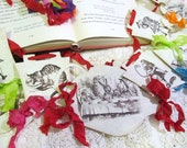Alice in Wonderland Parchment Party Banner Garland  - Clearance Sale - Last One - As is Ready to Ship!