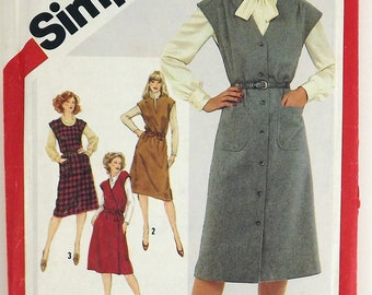 Vintage 80's Sewing Pattern, Misses Set of Jumpers, Size 10-12-14