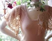 boho boudoir romantic lace top shirt blouse vintage cream cocoa summer fashion