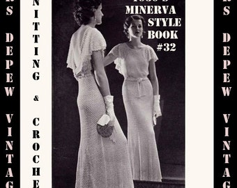 Vintage Knitting and Crochet Pattern Book Minerva Styles Volume 32 1933 Digital E-Book -INSTANT DOWNLOAD-