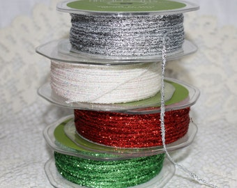 CLEARANCE - Metallic String - 3 Yard Bundle - Available in 4 Colors
