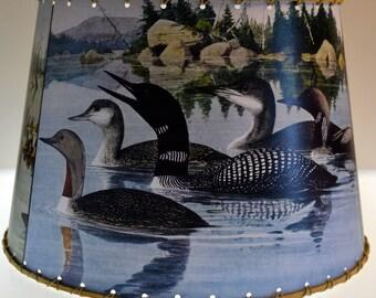 Adirondack, Loon Lamp Shade, Medium 10 x 12