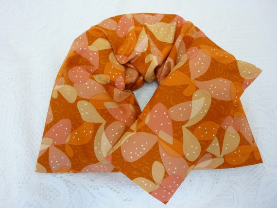Pain Relief Neck Wrap and Eye Pillow with Removable Covers -  Long Length - Pumpkin - Choice of Herbs
