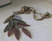 Autumn Leaf Necklace.  Urban Woodland Style. Boho Campus Jewelry. Mori Girl. FREE SHIPPING