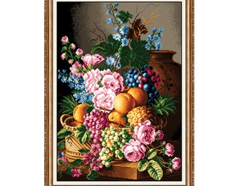 Cross Stitch/ Needlepoint Kit - Peaches