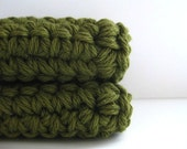 cotton crochet dishcloth scour scrubbies AND you can pick the colors
