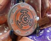 Ready to Ship Samhain Altar Tile Hecates Wheel