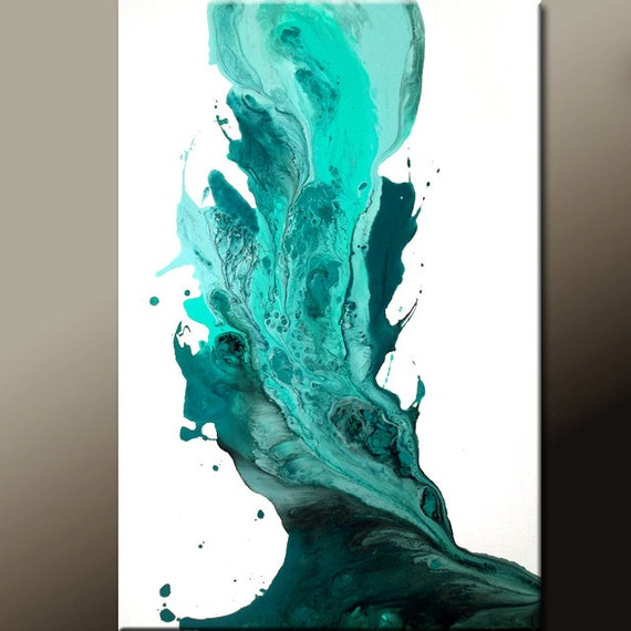 Abstract Art Painting on Canvas Original 36x24 Contemporary Fine Art by Destiny Womack - dWo - Returning to Heaven