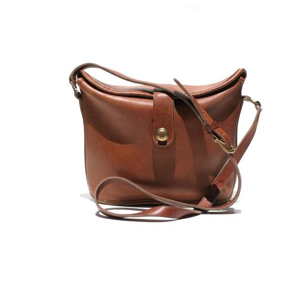 Coach Mocha Brown Leather Cross Body Bag