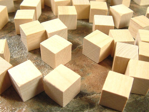 50 Wood Blocks Square 1 2 Inch Unfinished Wooden Blocks For