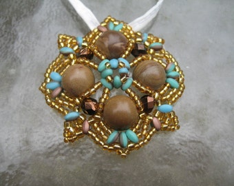 Seed Bead Pendant Made by ME