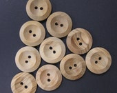 Medium Large Concave Wood Buttons Size 40 1 Inch