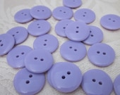 Plain Gloss Lilac Buttons 20mm 24 pieces