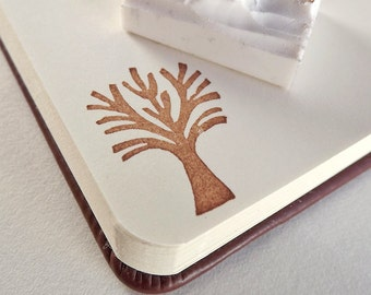naked little tree - hand carved stamp