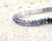Iolite Gemstone Rondelle Water Sapphire Faceted 4mm 1/2 Strand 60 beads
