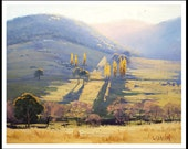 LANDSCAPE PAINTING  traditional Oil Painting rural landscape fine art tarana by Graham Gercken