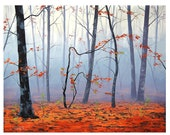 MISTY WOODLAND Fall PAINTING impressionist Autumn Art Deco by  Graham Gercken