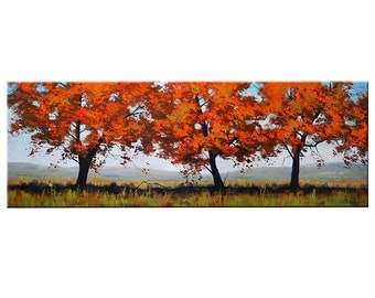 LARGE TREES PAINTING Wall Decal  landscape by G.Gercken